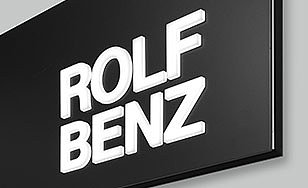 Illuminated advertising systems for Rolf Benz